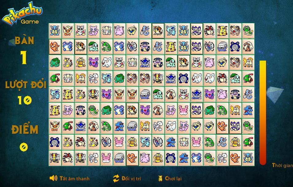 #2021 Chơi game Pikachu Online, trò chơi xếp hình PiKachu miễn phí