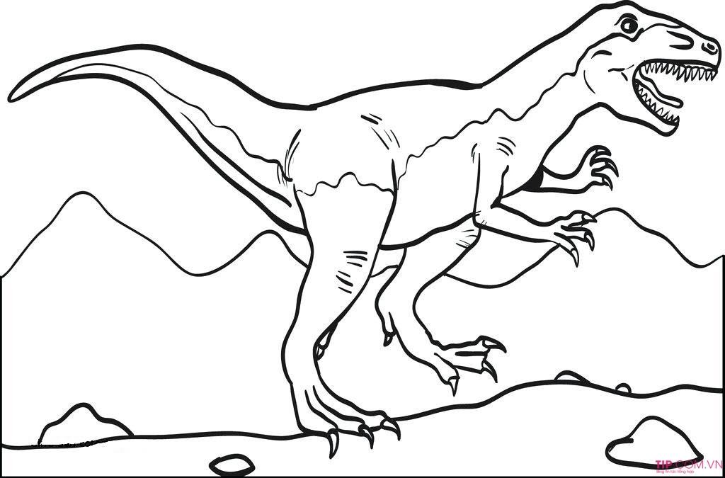 #2021 Tuyển tập 50 mẫu tranh tô màu khủng long đẹp nhất cho bé tập tô