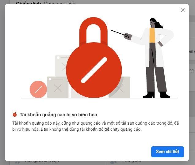mở khóa tài khoản quảng cáo facebook