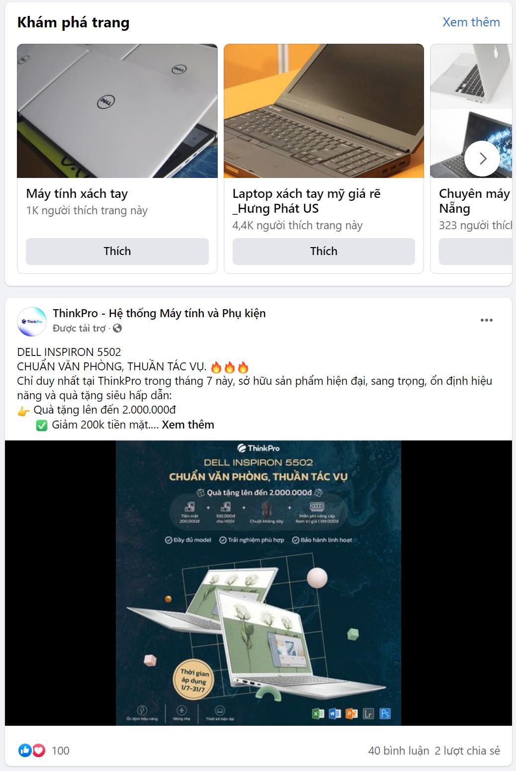 target facebook máy tính xách tay, laptop