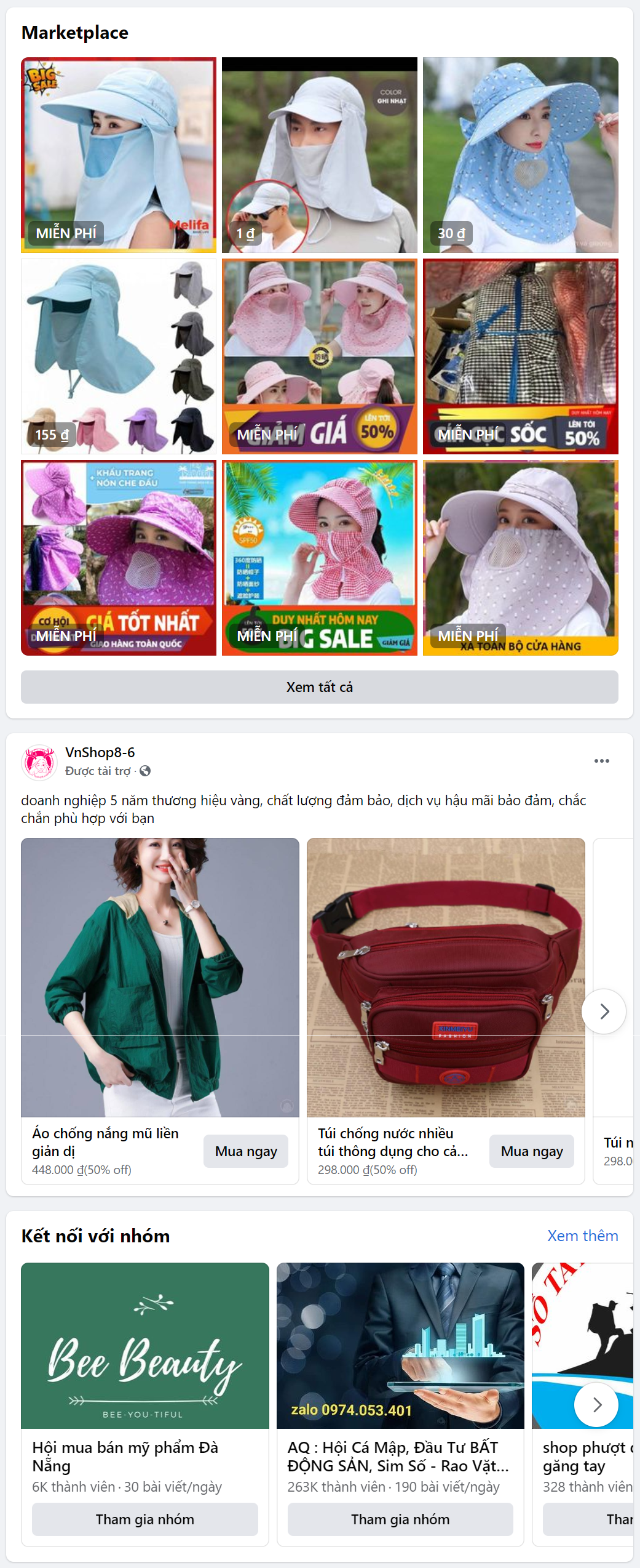 target facebook mũ chống nắng thời trang